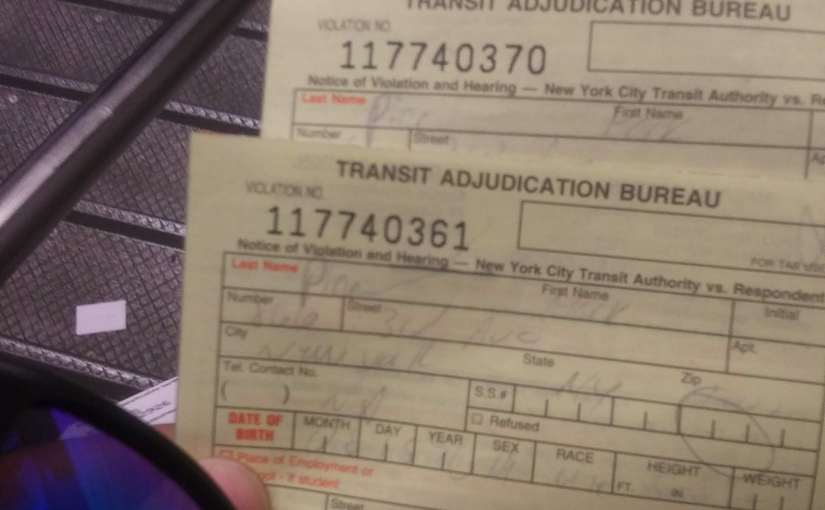 The NYPD scammed me again tonight in the Grand Central subwaystation.