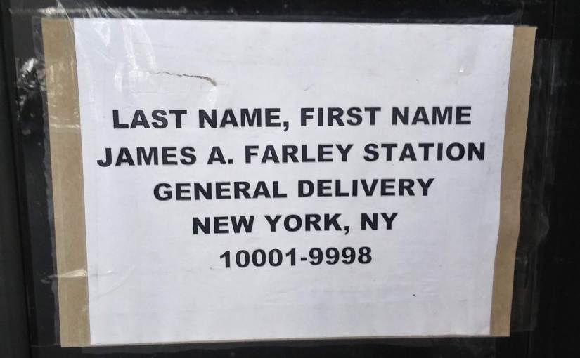New York City mailing address for homelesspeople.